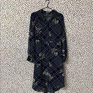 ModCloth Plaid + Floral Button Up Dress